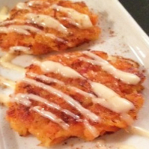 Apple & Cheese Sweet Potato Pancakes