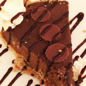 No Bake Nutella Peanut Butter Cheesecake